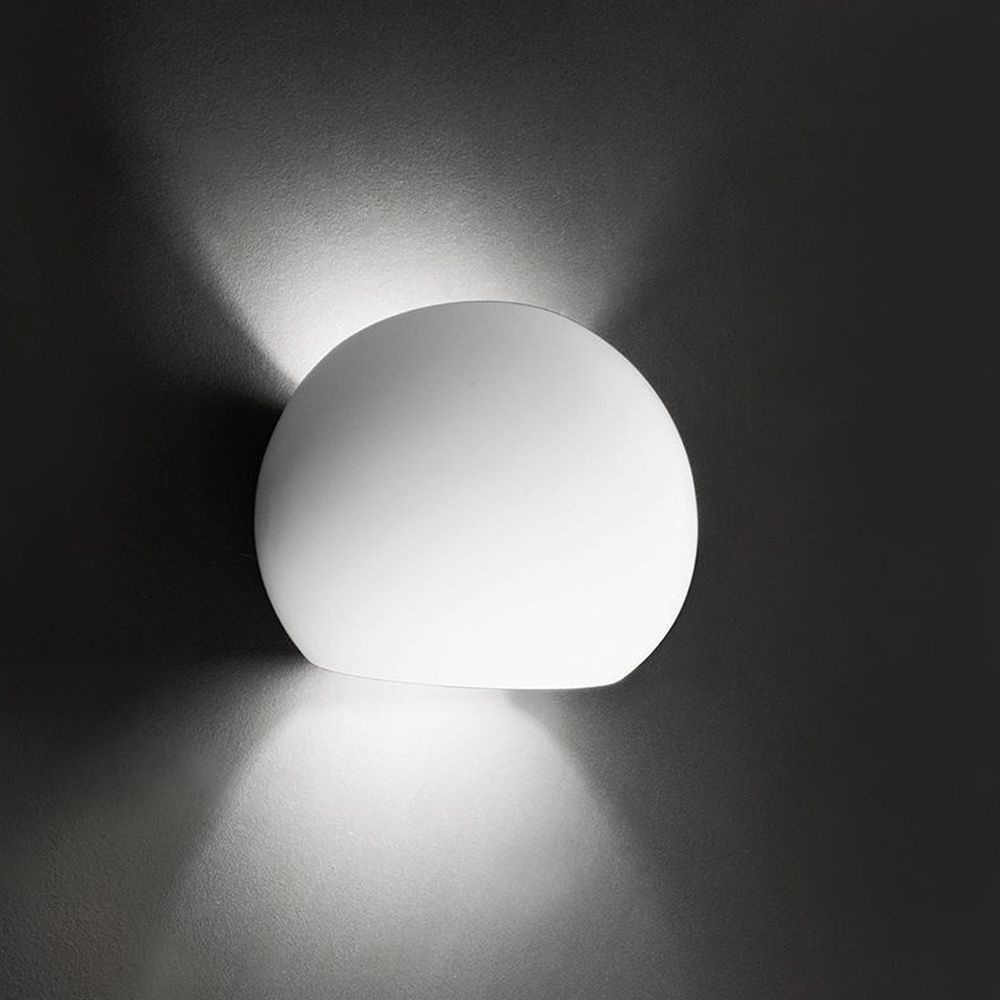 Deko-Light Kugelförmige Wandleuchte Osano aus Gips, überstreichbar