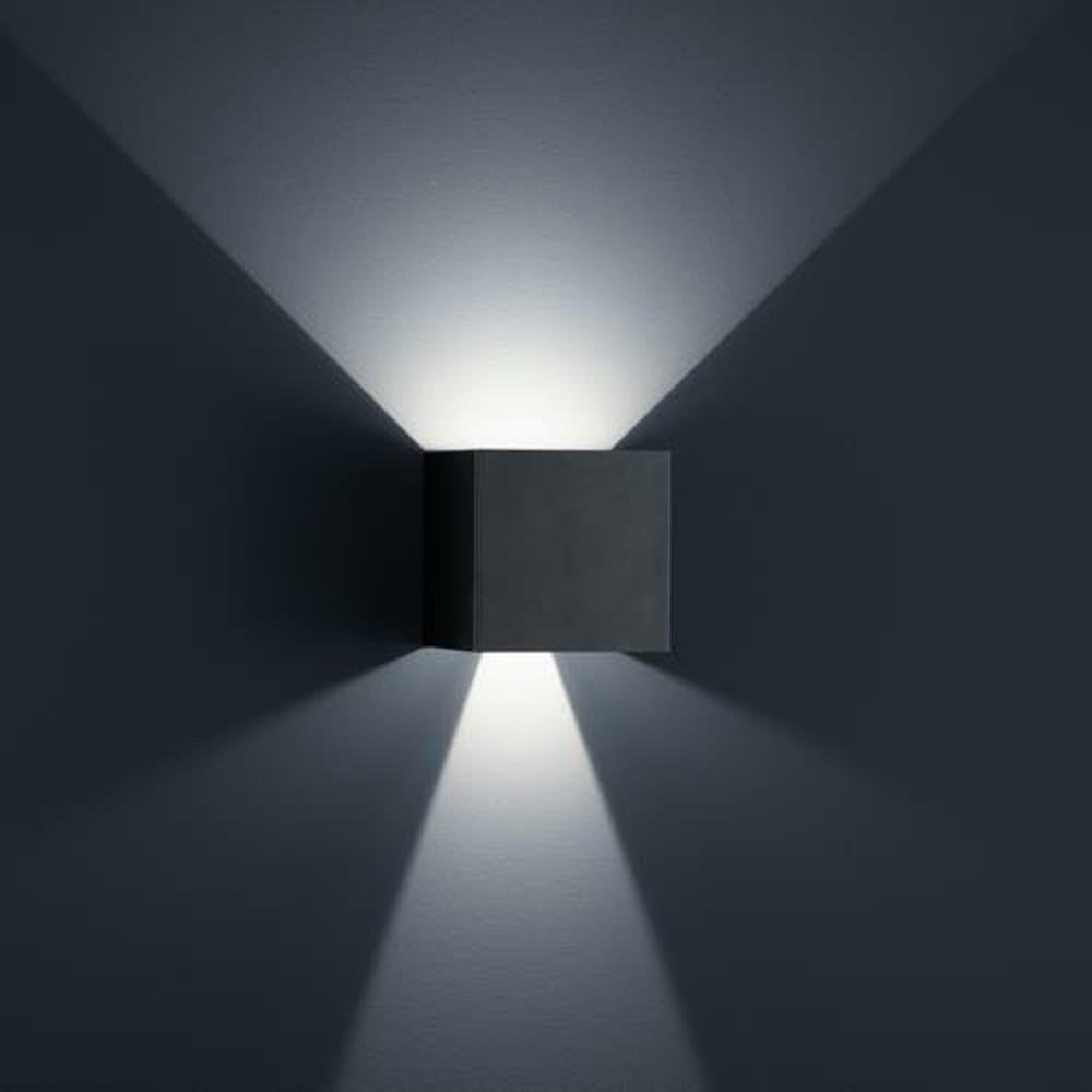 led wandleuchte siri 44 l in schwarz matt 2x 6w 950lm ip54 helestra click. Black Bedroom Furniture Sets. Home Design Ideas