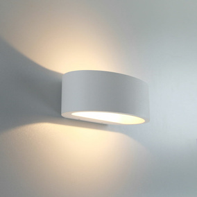 famlights | LED Wandleuchte Sharp Aluminium in Weiß