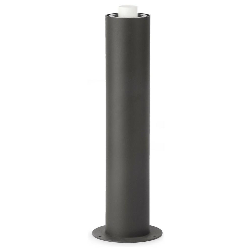 Wegeleuchte Aluminium E27 grau IP44 Kunststoff Acryl Schlicht