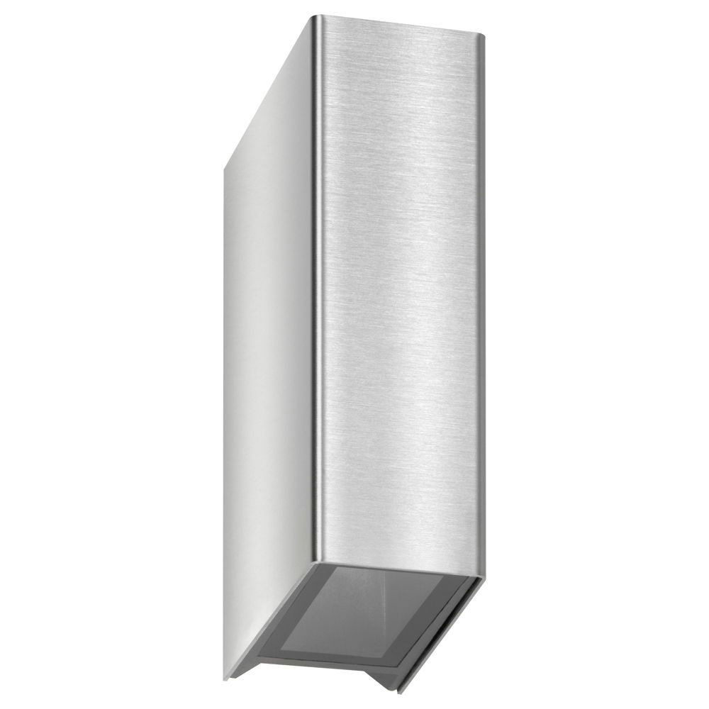 LED Wandleuchte A-282601, Graphit, Aluguss, 2x 4W, 314lm, 3000K, Floatglas, IP54, 125x43x90mm