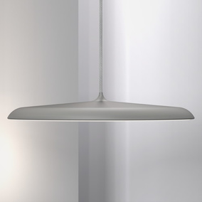 Gediegene LED Pendelleuchte Artist 40 in silber, dimmbar