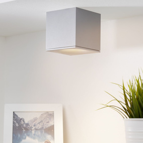 Gediegener mylight LED Deckenspot Brick in grau, dimmbar