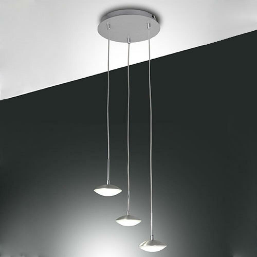 led pendelleuchte hale in aluminium geb rstet 3x 8w 2100lm fabas luce 3255 47 212 click. Black Bedroom Furniture Sets. Home Design Ideas