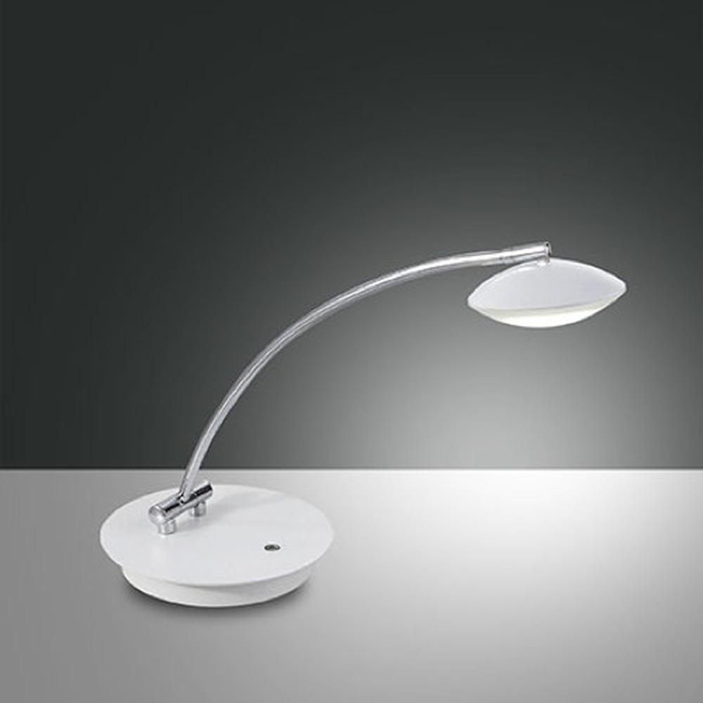 Schicke LED Tischleuchte Hale in weiss