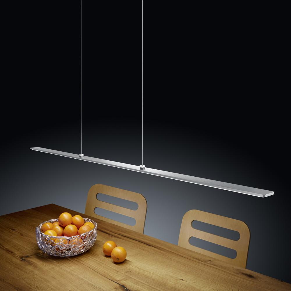 stylische led pendelleuchte lexx in nickel matt eloxiert chrom mit easylift helestra 16. Black Bedroom Furniture Sets. Home Design Ideas