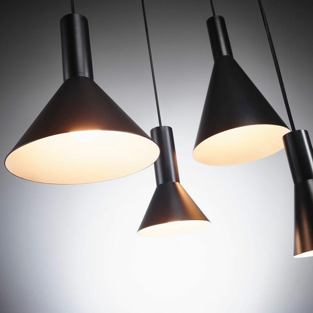 SLVPhelia Pendelleuchte Aluminium E27 Küche schwarz