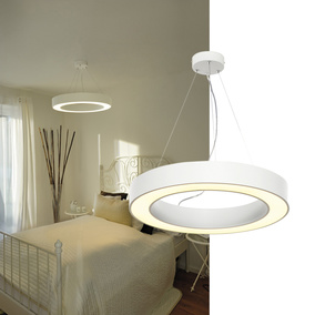 LED Pendelleuchte Medo Ring in weiß, Ø 600 mm