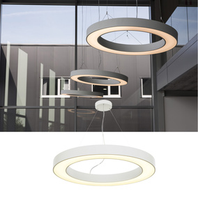 LED Pendelleuchte Medo Ring, in weiß, Ø 900 mm