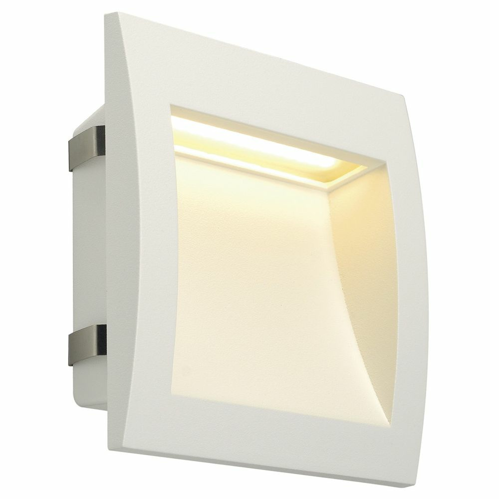 LED Wandeinbauleuchte Downunder Out L, IP55, 3000K, weiß