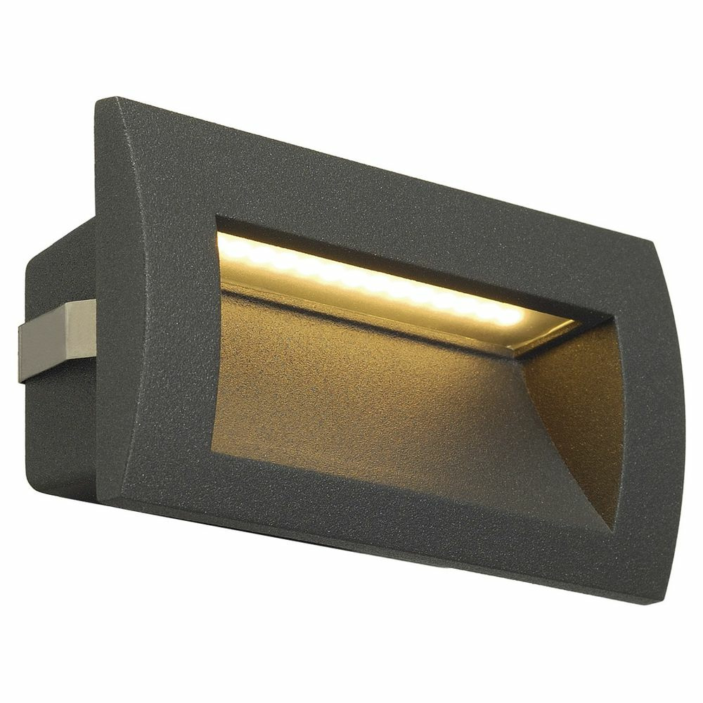 LED Wandeinbauleuchte Downunder Out M, IP55, 3000K, anthrazit