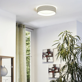 LED Deckenleuchte, 320mm, taupe