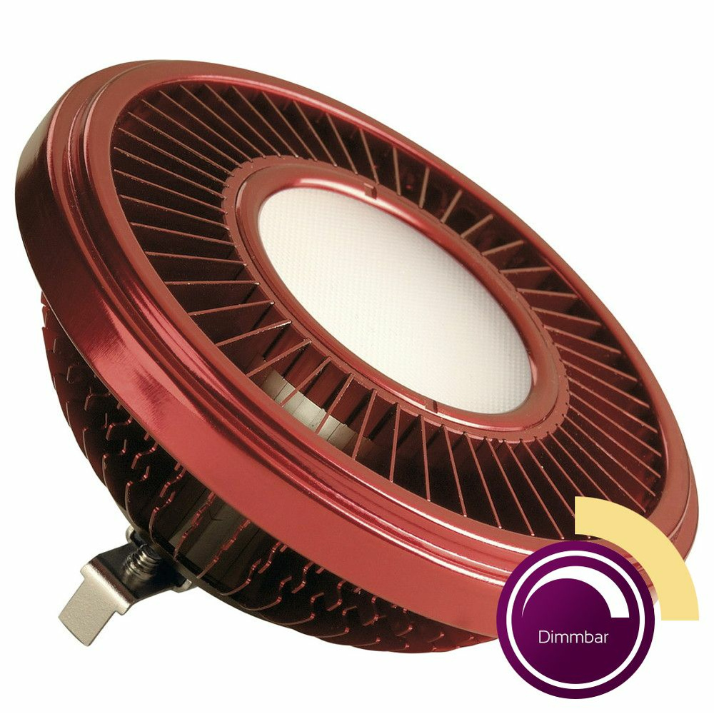 LED QRB111 Leuchtmittel, 19,5 W, 2700 K, dimmbar, rot, 140°, 900 lm