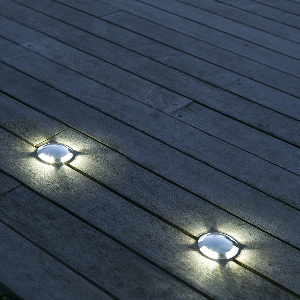 Innovative Wand  Bodenaufbauleuchte Keenan für Wege und Terrassen aus  Aluminium und Glas in versch. Ausführungen, IP20