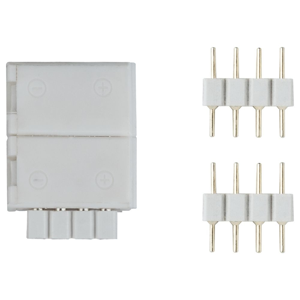 Function YourLED ECO Clip-to-YourLED Connector aus Kunststoff in weiß, 2er-Pack