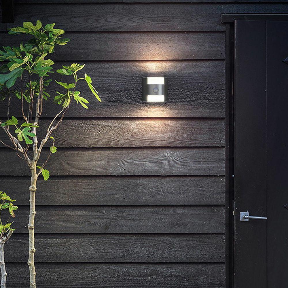 zeitlose mygarden au enwandleuchte gras aus aluminium in anthrazit mit philips 173229316. Black Bedroom Furniture Sets. Home Design Ideas