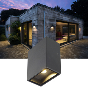 Outdoor LED Wandleuchte Quad XL, eckig, anthrazit, 110 mm