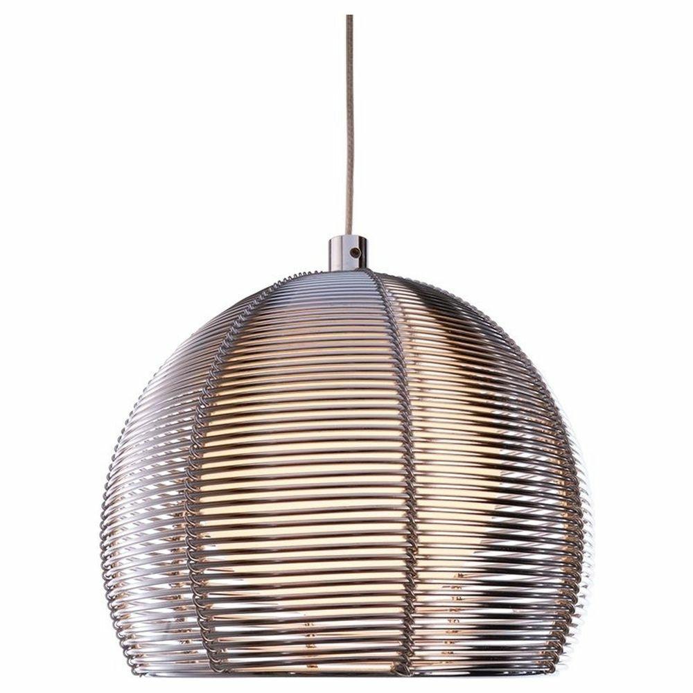 Ausgefallene Deko Silber: Ausgefallene Pendelleuchte Filo Ball Aus Metall In Silber