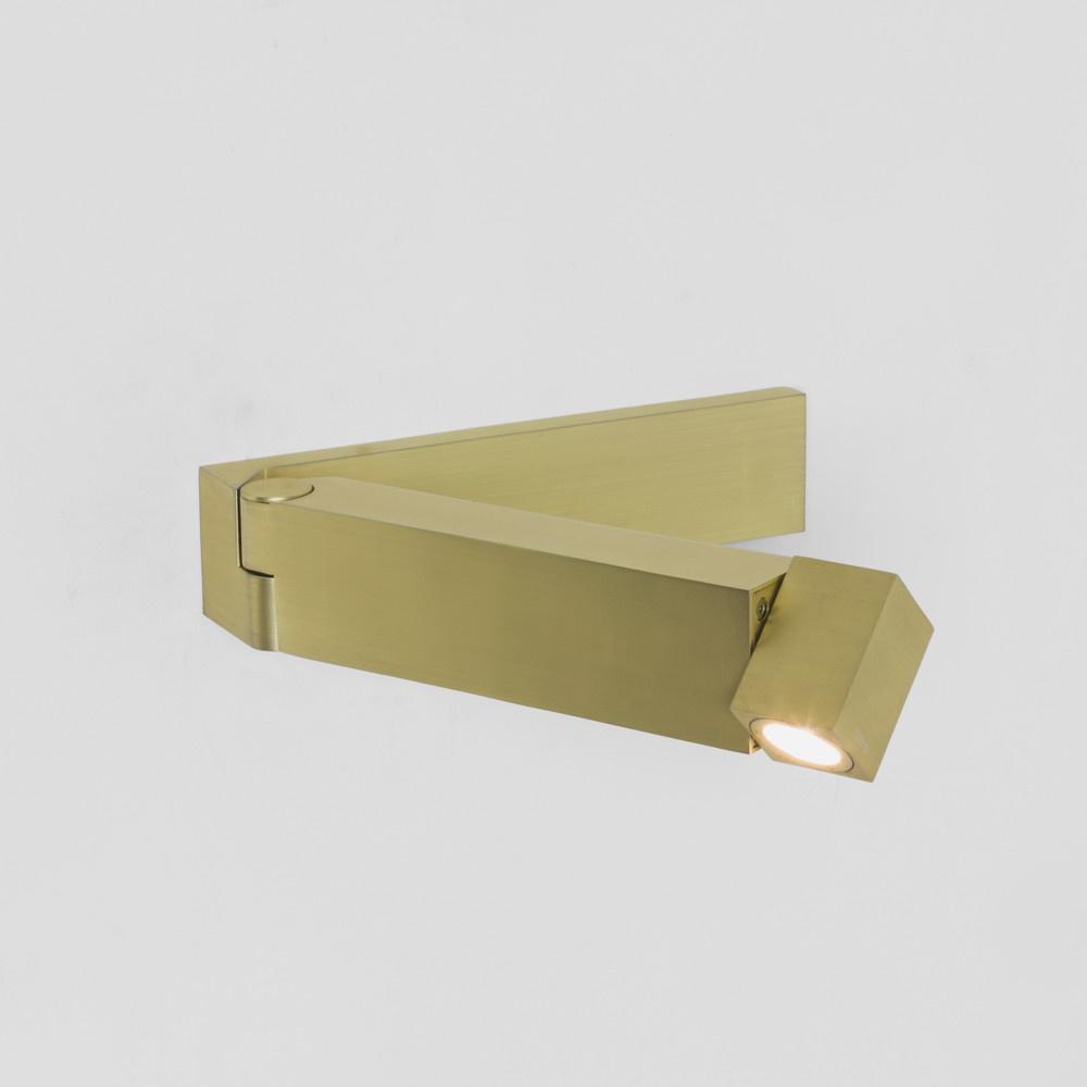 funktionelle led wandleuchte tosca in gold matt mit. Black Bedroom Furniture Sets. Home Design Ideas