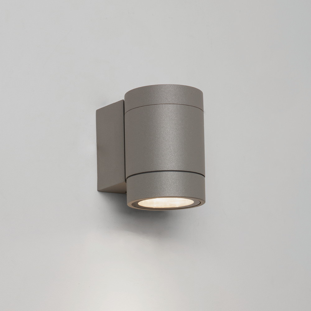 Moderne LED Wandleuchte Dartmouth Single in silber, 1-flammig, IP54