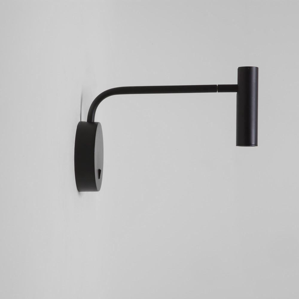 flexible led wandleuchte enna wall in schwarz mit schalter astro a 7592 click. Black Bedroom Furniture Sets. Home Design Ideas