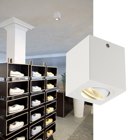 Geradliniges Aufbaudownlight Triledo Square CL in wei�
