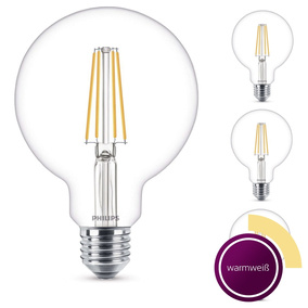 Philips 4er Set LED Leuchtmittel, klar, E27, 6 W (60 W),...