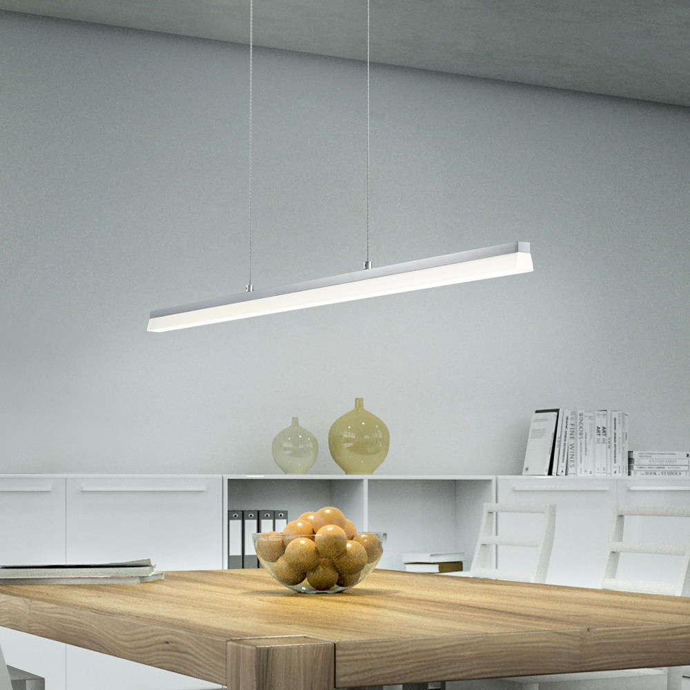 dimmbare pendelleuchte moya aus mattem aluminium und. Black Bedroom Furniture Sets. Home Design Ideas