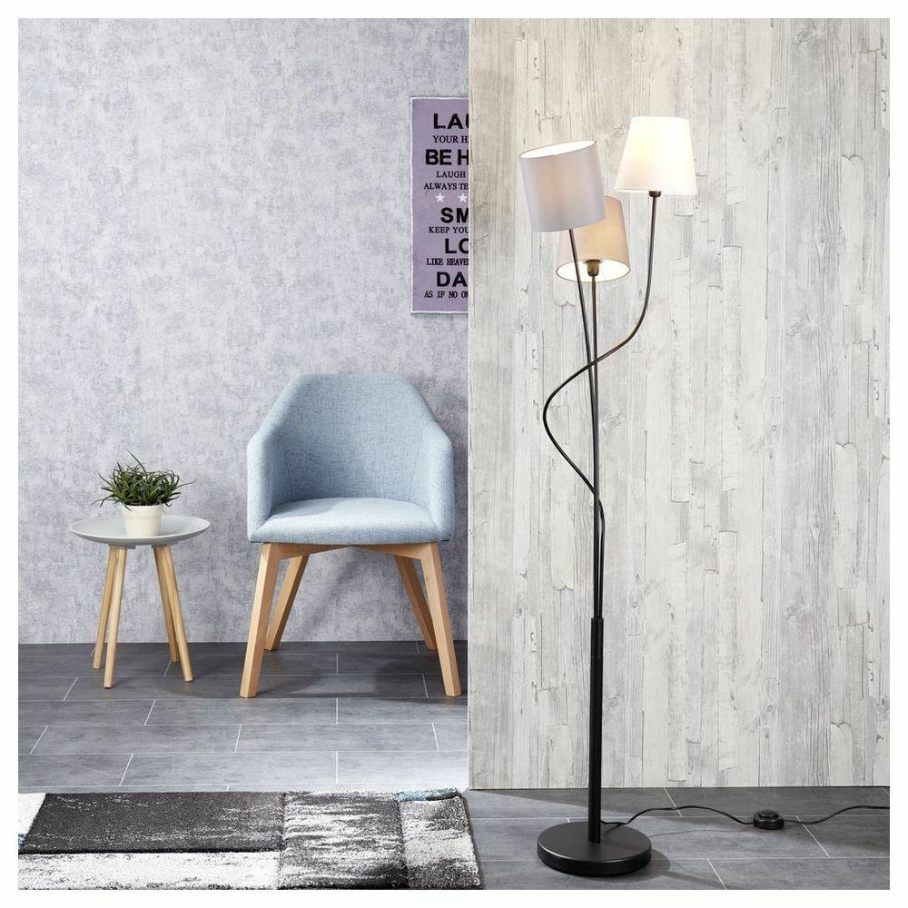 dreiflammige textilstehleuchte maronda click. Black Bedroom Furniture Sets. Home Design Ideas