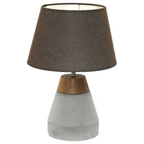 einflammige pendelleuchte tarega aus stahl in grau holz in braun und leuchte eglo 95525. Black Bedroom Furniture Sets. Home Design Ideas