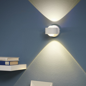 Up-and Downlight Wandleuchte Ono 2 aus Aluminium und...