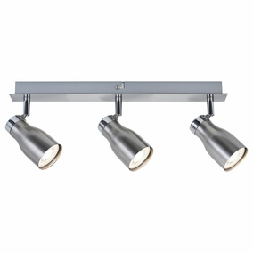 Spotlight Meli, Metall, nickel satiniert, GU10, 3-flammig