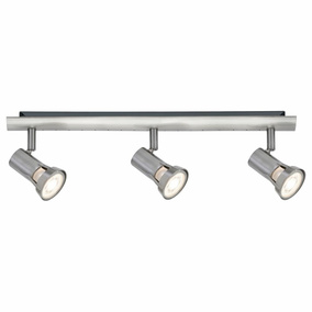 Spotlight Teja, Metall, GU10, nickel satiniert, 3-flammig