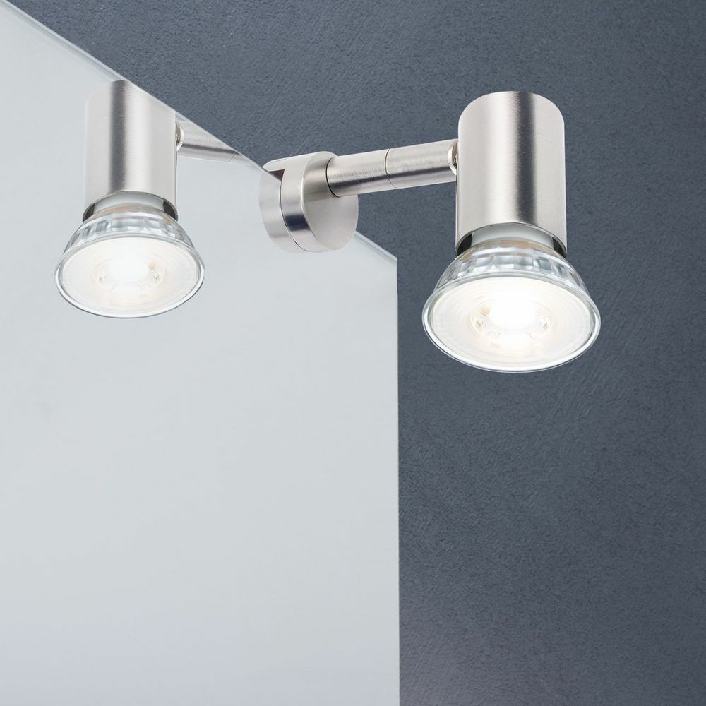 Design LED Wand Spiegel Klemm Lampe Bad Spot Wohnraum Strahler verstellbar