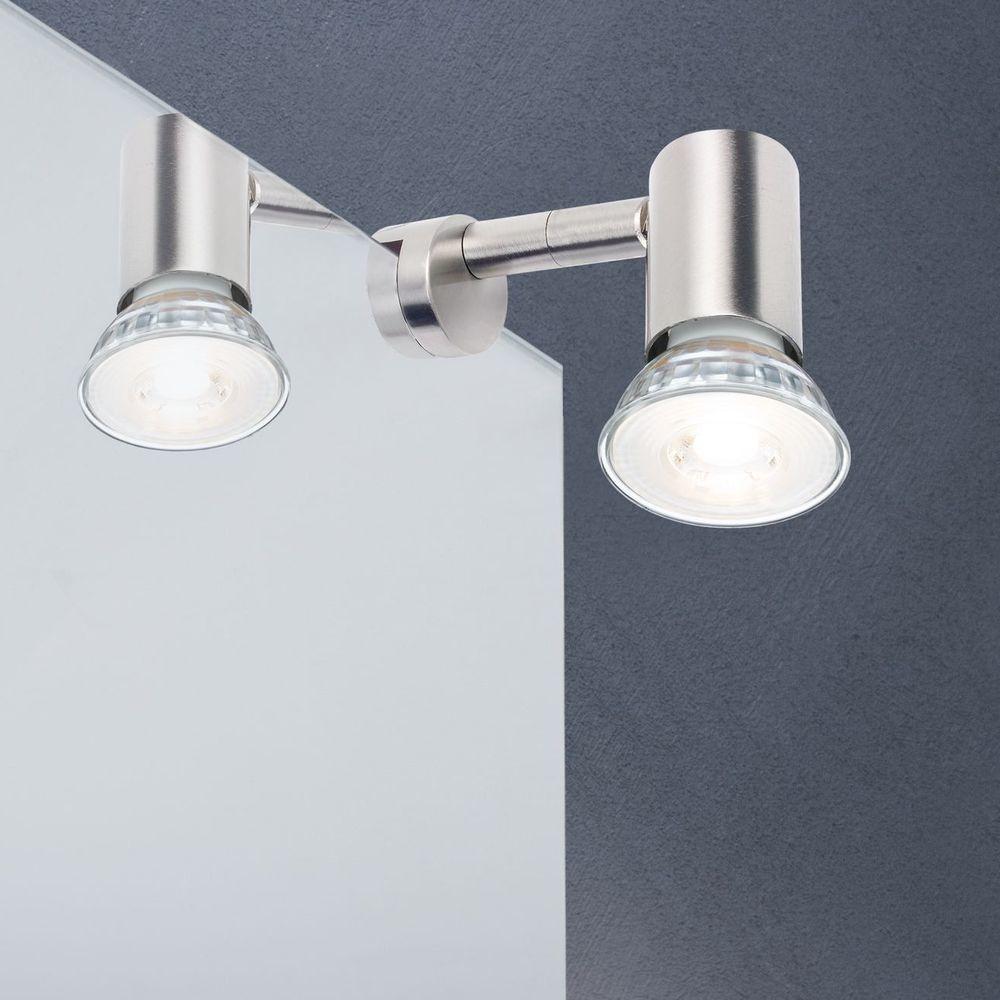 led spiegelleuchte galeria simplo metall eisen geb rstet 1x5 3w paulmann 99905 click. Black Bedroom Furniture Sets. Home Design Ideas