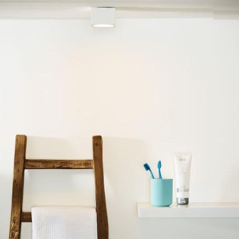 Badezimmer Deckenleuchte in weiß, 90x90mm