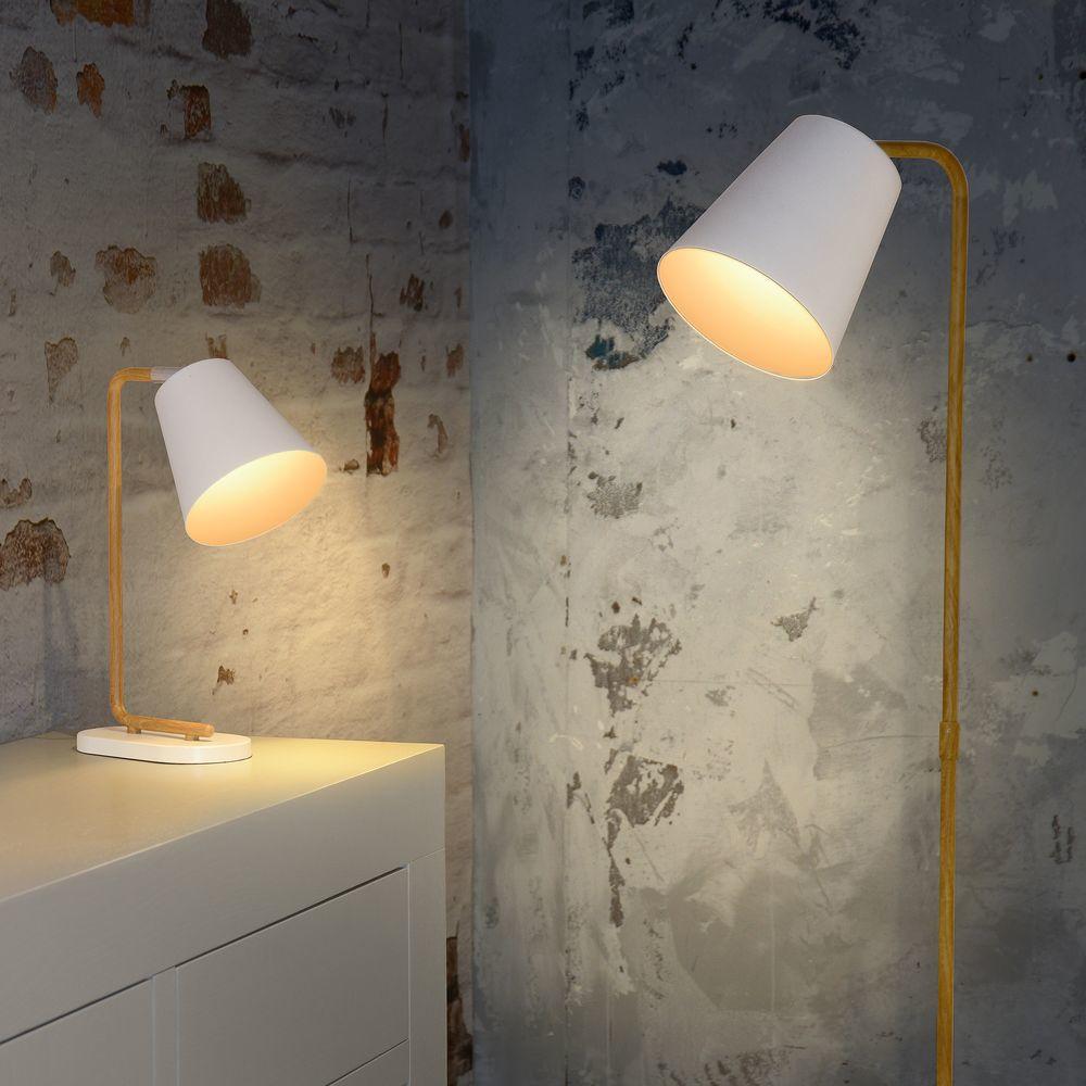 E14- E27 /Ø 25 cm 49966 EGLO Lampenschirm 1+1 Vintage wei/ß H/öhe 14 cm