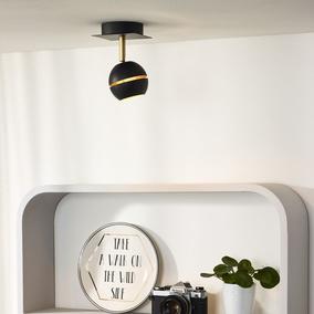 tischleuchte binari led in schwarz mit flexiblem. Black Bedroom Furniture Sets. Home Design Ideas