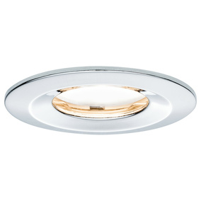 Premium LED Einbaustrahler Slim Coin Satin, IP65, starr