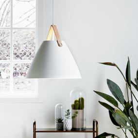 designer pendelleuchte strap 36 e27 edelstahl geb rstet 360 mm by bj design for the people. Black Bedroom Furniture Sets. Home Design Ideas