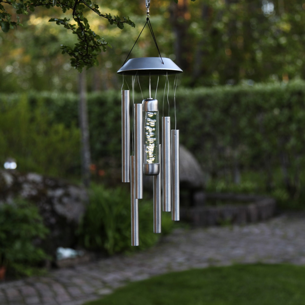 led solar windspiel bubbly edelstahl 350mm best season 479 37 click. Black Bedroom Furniture Sets. Home Design Ideas