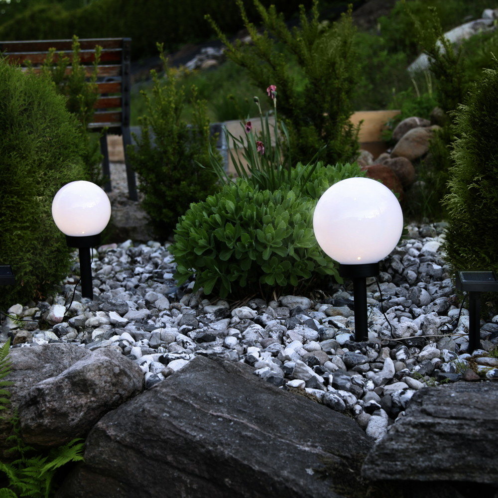 Solar Gartenkugel Globus Mit Sensor Und Led