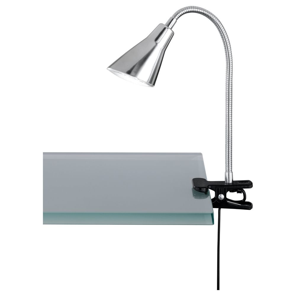 LED Klemmleuchte in Nickel-Matt 3,8W 350lm mit Flexarm