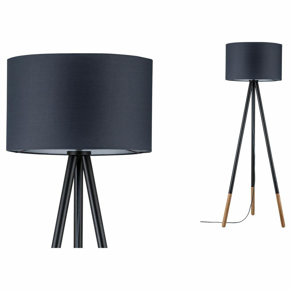 stehleuchte neordic rurik 1 flammig mit stoffschirm grau. Black Bedroom Furniture Sets. Home Design Ideas