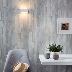 famlights | Wandleuchte Eindhoven in silber, 100 mm, up-...