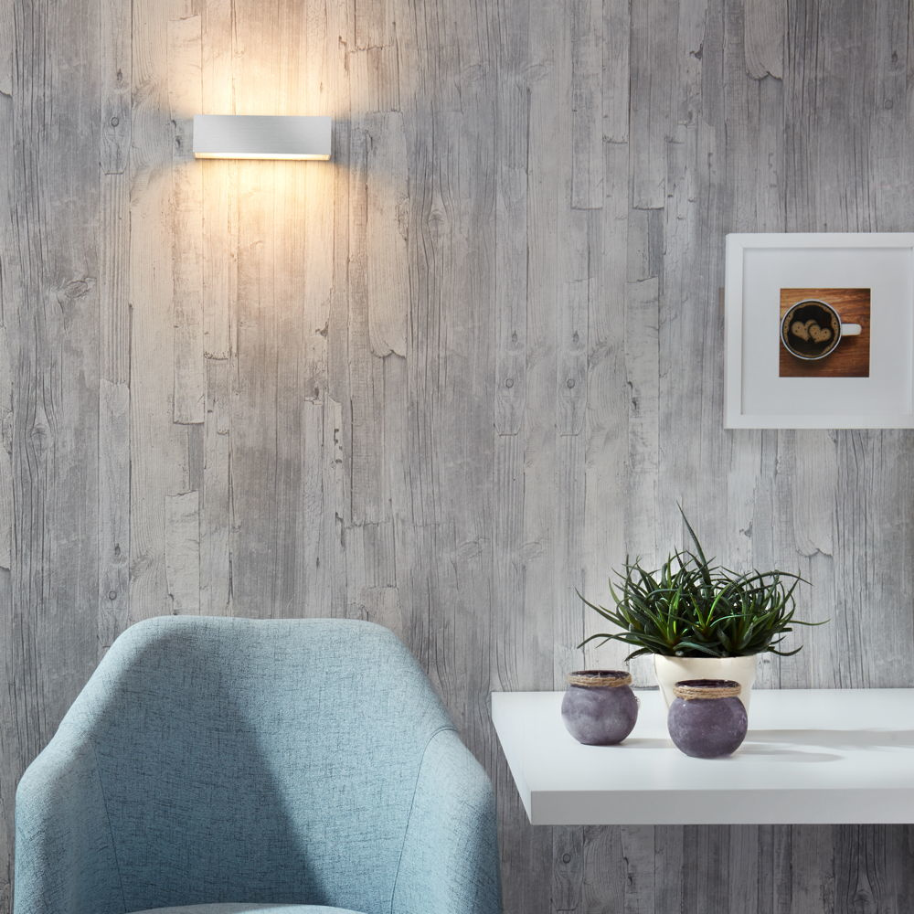 famlights | Wandleuchte Eindhoven in silber, 150 mm, up- & down
