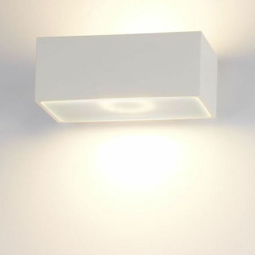 famlights | LED Wandleuchte Eindhoven Aluminium in Weiß 130 mm