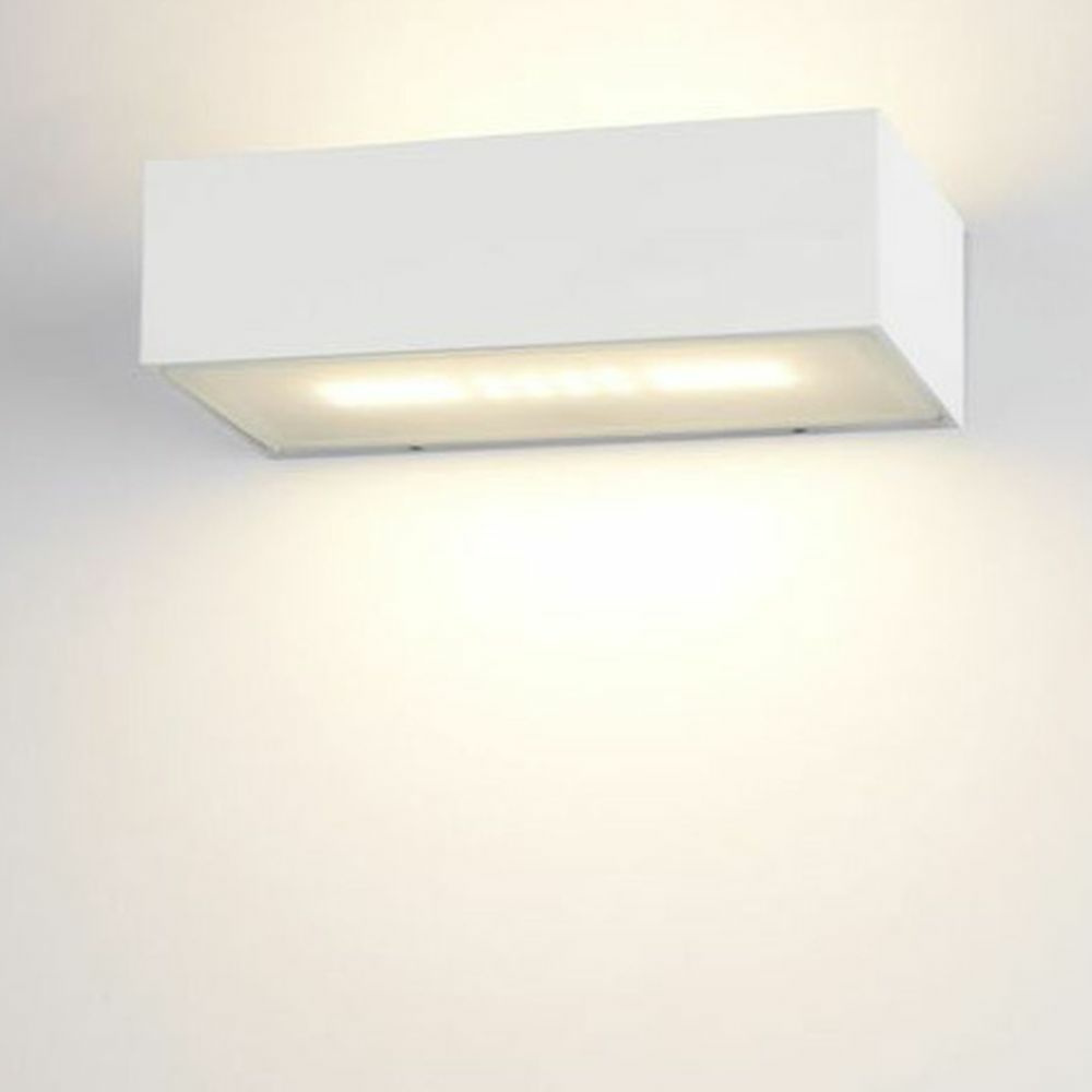 famlights | LED Wandleuchte Eindhoven Aluminium in Weiß 182 mm