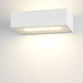 famlights | Wandleuchte Eindhoven in weiss, 150 mm, up-...