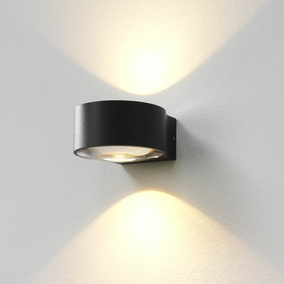 famlights | LED Wandleuchte Hudson Aluminium in Anthrazit